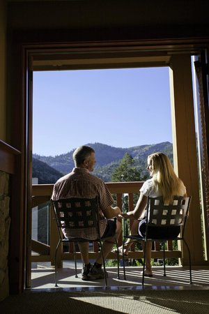 The Village At Squaw Valley: Soak in the breathtaking views of Squaw Valley's mountain peaks
