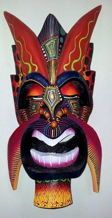 Wood and Art Gallery: Diablito Borucan Mask