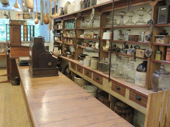 Norris Dam State Park: Museum old store exhibit