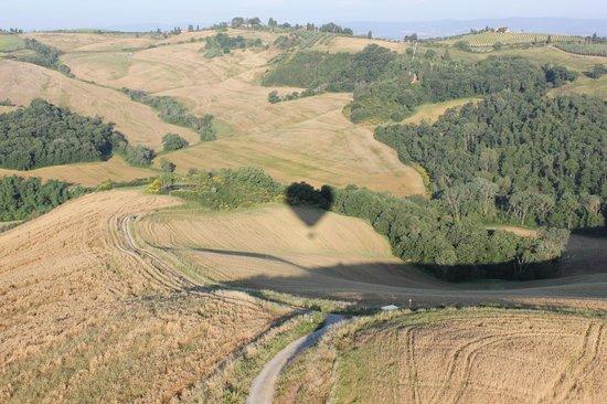 Ballooning in Tuscany: beautiful views