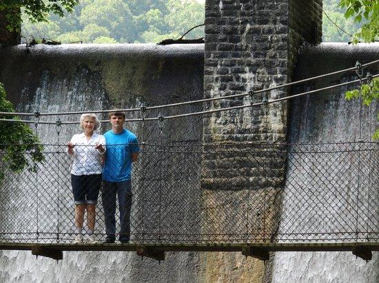 Standing Stone : swinging bridge