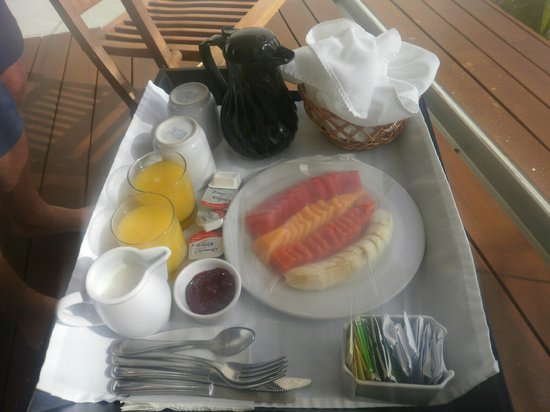 Hotel Secreto: Breakfast as delivered to room  - July 2011