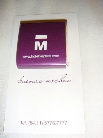 Hotel Madero: Welcome
