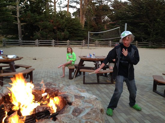 Asilomar Conference Grounds: Asilomar Fire Pit surf and sand