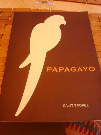 Le Papagayo: The Menu