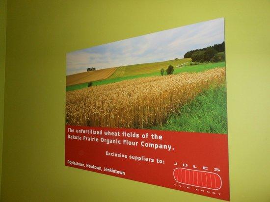 Jules Thin Crust: locally grown produce !