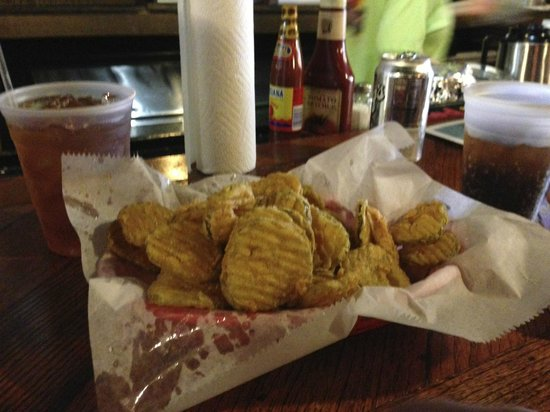 Miss Polly's Soul City Cafe: Fried pickles!