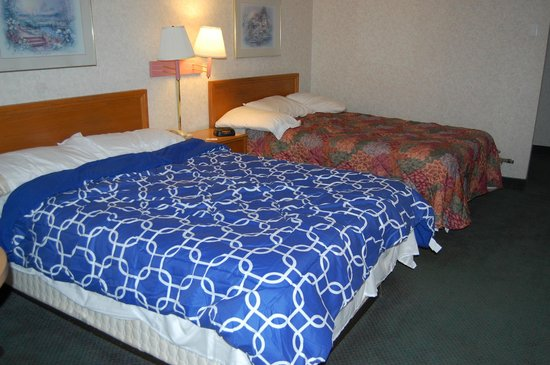 Travelodge Ridgeway Martinsville Area : Double Room, bought bedding ourselves!