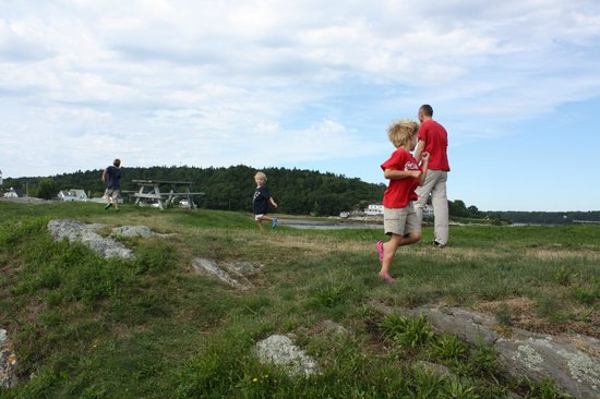Percy's store: grassy hill at fort near percy's. Bring your coffee