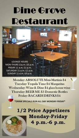 Pine Grove Restaurant : Pine Grove Specials