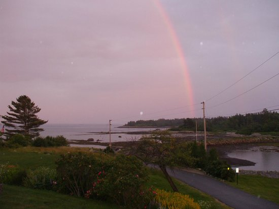 Craignair Inn at Clark Island: Rainbow over Clark Island, view from dining room