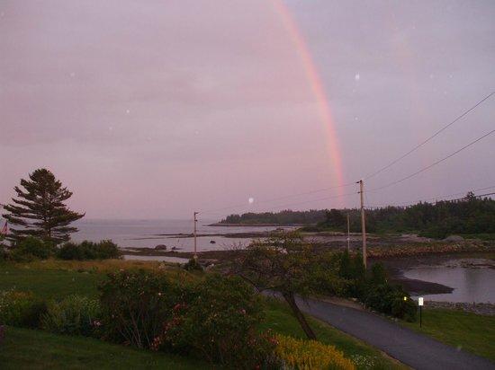 Craignair Inn at Clark Island : Rainbow over Clark Island, view from dining room