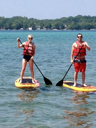 Torch Lake Bed & Breakfast : Come and enjoy our paddle boards