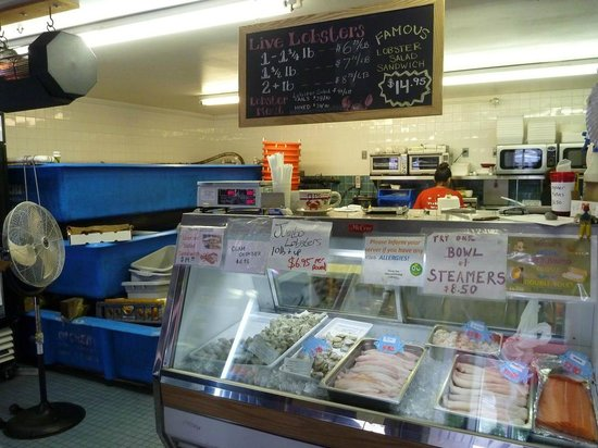Main Store And Counter For Orders Picture Of Alive And Kicking Lobsters Cambridge Tripadvisor