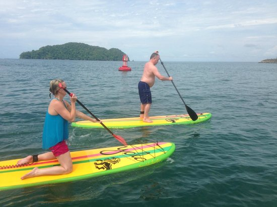 Costa Rica SUP'ers: Paddling to the cove for yoga class