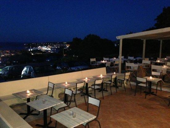 The Blues Cafe: Amazing view over Porto Cervo Bay!!