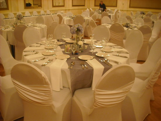 The Tiger Hotel: Table setting for wedding reception
