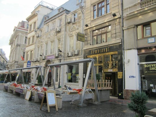 Rembrandt Hotel and part of the street