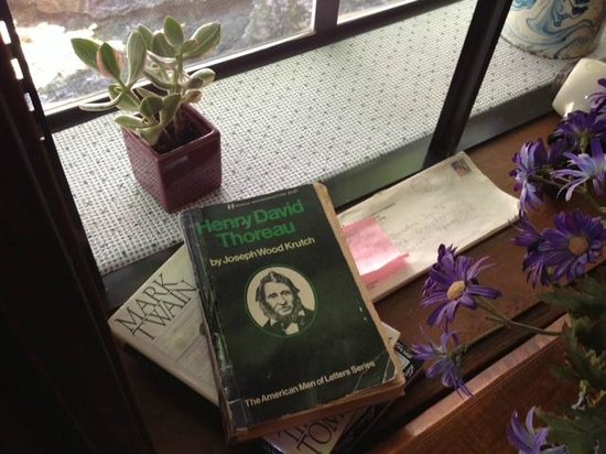 Cliff Cottage Inn - Luxury B&B Suites & Historic Cottages: lots of good reading material (Sandra is also a writer!)