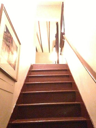 Inn on St Ann: The stairs inside up to the room