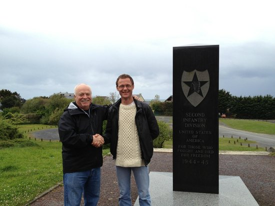 Battle of Normandy Tours: With Edward at 2nd Division Memorial at Omaha Beach