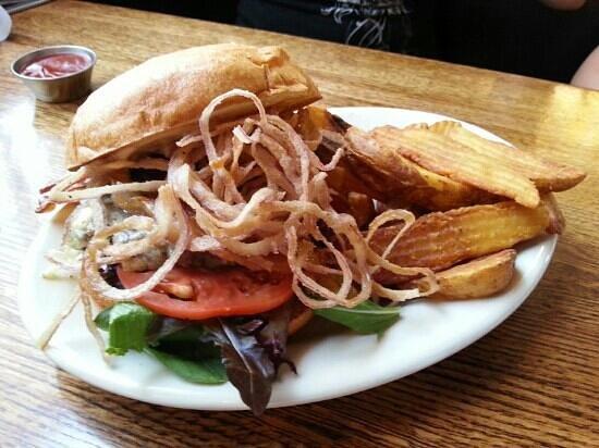The Iron Rabbit Restaurant and Bar: Rancher Burger...Yummy!!