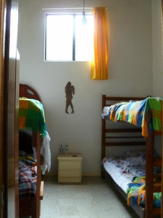 Plantas & Blanco's Hostel : The lovely room we had, Such high ceilings and great water pressure!