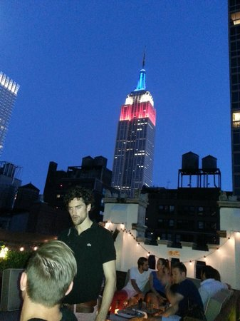 Rooftop patio and Bar.