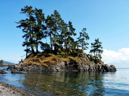 East Sooke Regional Park: Easily reached island