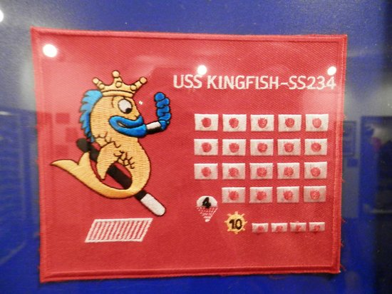 Veterans Memorial Museum: Sampl of a submarine patch - from a display of all submarine patches