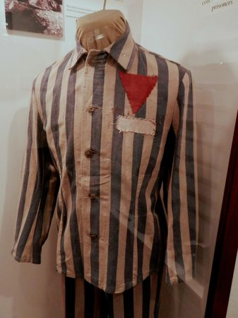 Veterans Memorial Museum: Concentration Camp prisoner uniform