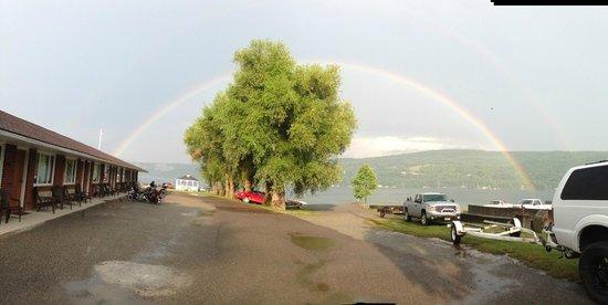 Keuka Lakeside Inn: Rainbow after a shower.