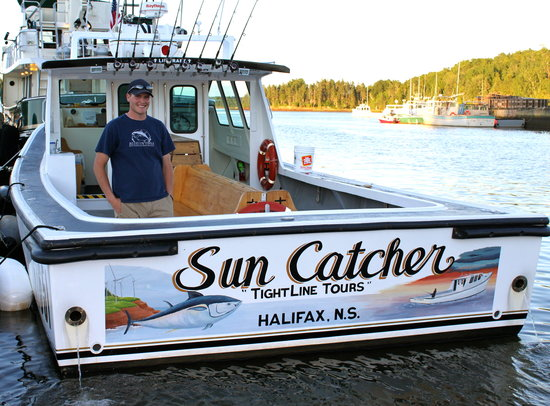 Montague, Canada: Captain Spencer aboard the Sun Catcher
