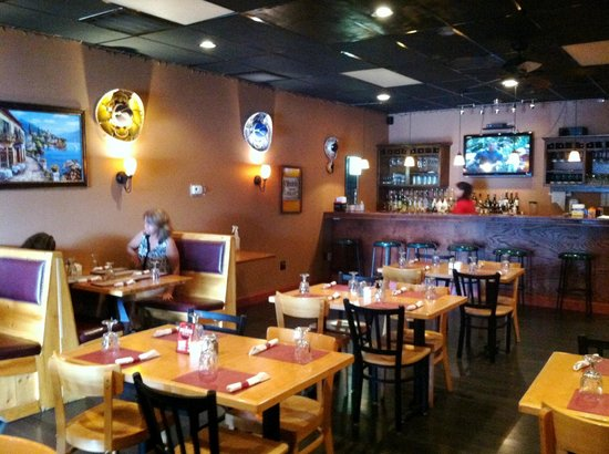 Fiesta Bar & Grill: bar and dining area