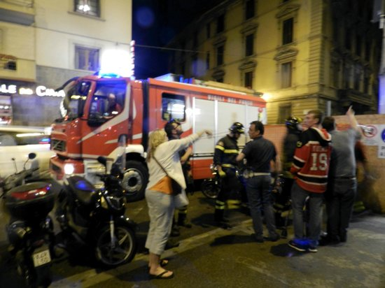 Hotel Cosimo de' Medici : When the fire truck finally arrived