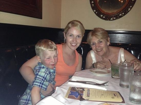 Fiorenzo Italian Steakhouse: wife daughter and grandson