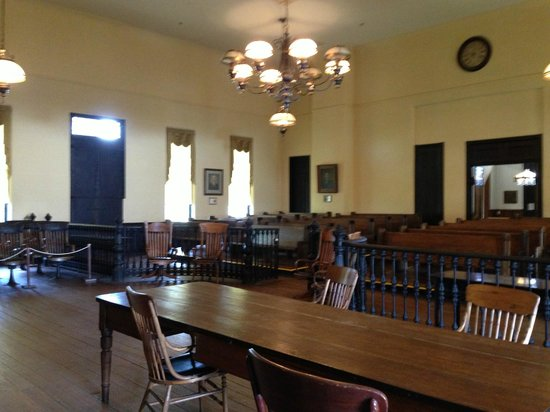 Old Courthouse: the old court room