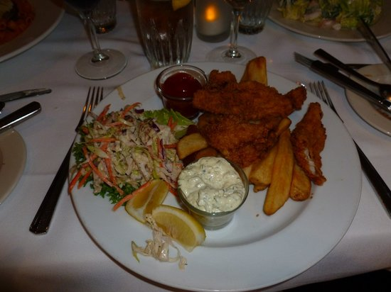 Little River Inn Dining Room : Fish and Chips - Less expensive, can be ordered from main dinning room