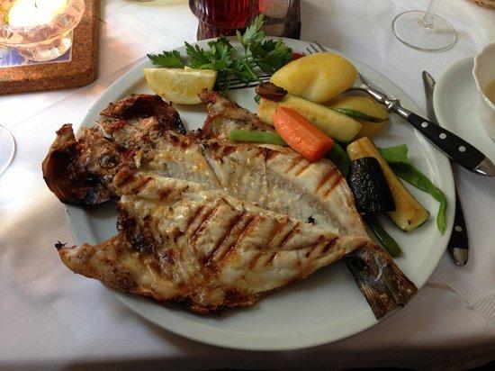 Churrascaria O Frango: Dorade royal mit Knoblauch sauße (fish with garlic sauce)