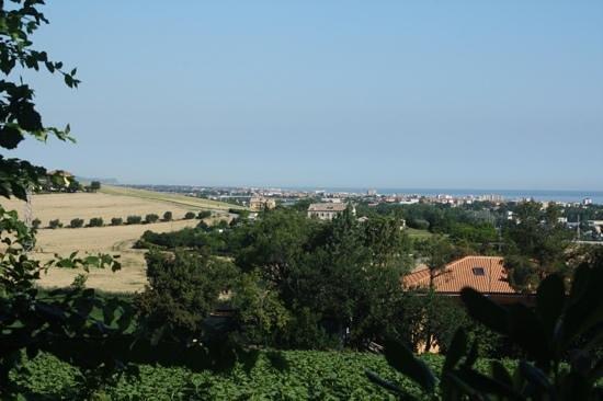 Locanda Strada della Marina: View of Senigallia from grounds of Locanda