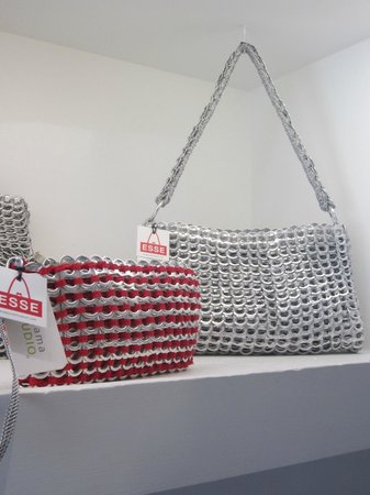 Esse Purse Museum: Recycled pop-top purses are quite the attention-getters.