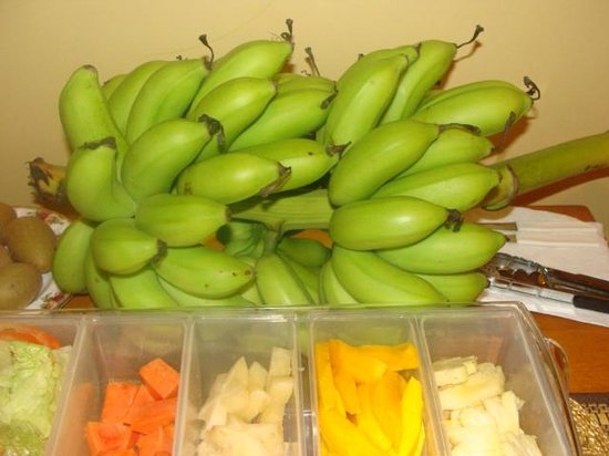 Native Abode: Fresh Bananas from Hotel Grounds