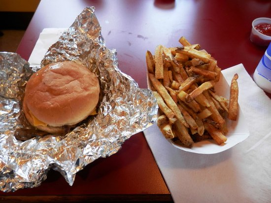Burger Shack: The Burger and Fries I Received