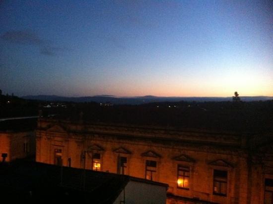 Hospederia San Martin Pinario: Abendstimmung von unserem Fenster aus