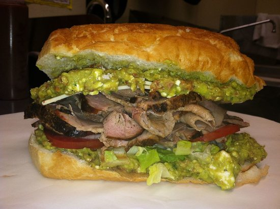 Supernaw BBQ : The Oinkenstein, pork with our special guacamole