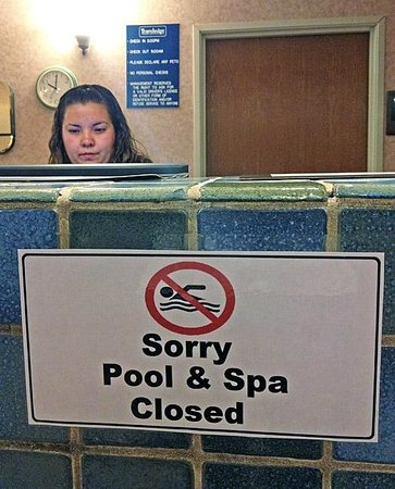 Gallup Travelodge: If the pool is out of order this long, stop selling it having one!