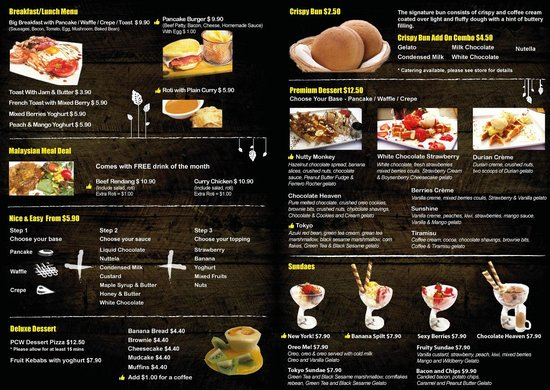 Food menu picture of papparoti macquarie north ryde for Australian cuisine menu
