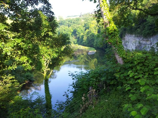 Old Hay Barn: View over the river from the garden