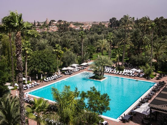 La Mamounia Marrakech: Vast hotel gardens and pool