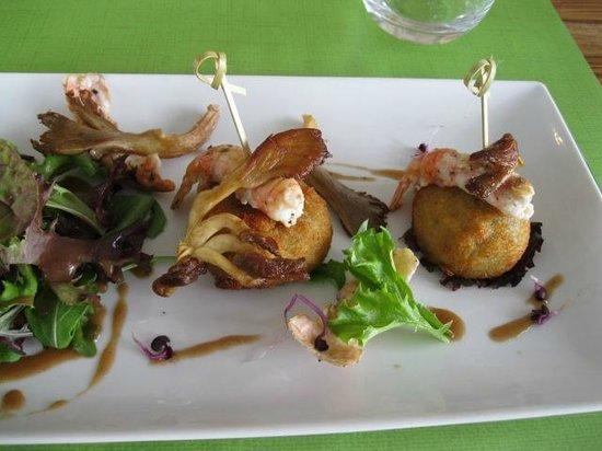 Hôtel Punta Lara : croustillant pieds de porc et langoustines